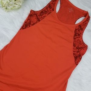 Athelta Orange Workout Tank Top